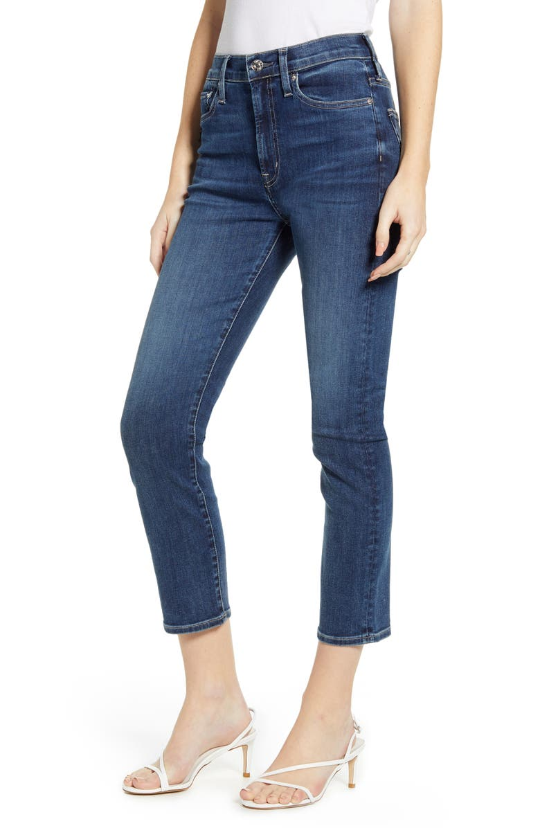 EDWIN Elin High Waist Crop Slim Jeans, Main, color, 405