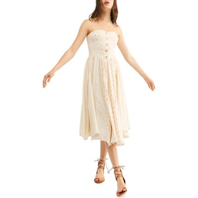 Free People Amanda Strapless Midi Dress, Ivory