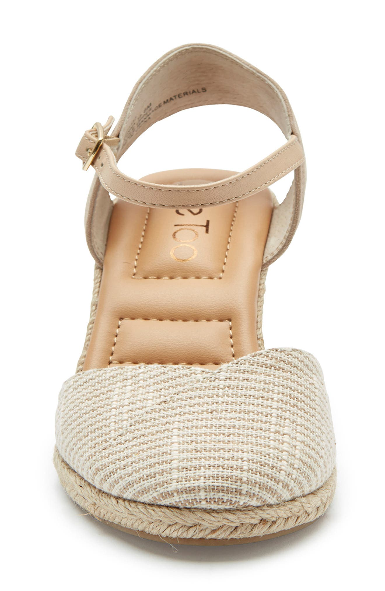 ,                             Brenna Espadrille Wedge Sandal,                             Alternate thumbnail 4, color,                             TAN FABRIC