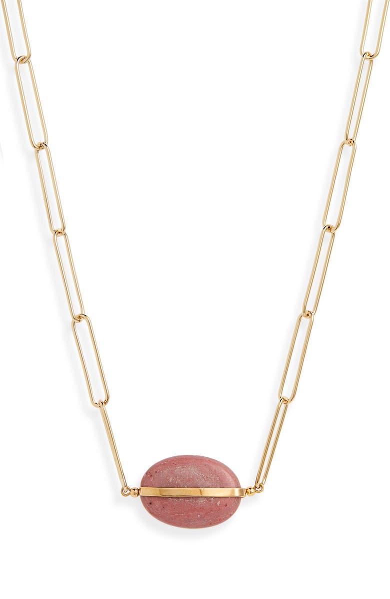 ISABEL MARANT Stone Pendant Necklace, Main, color, 200
