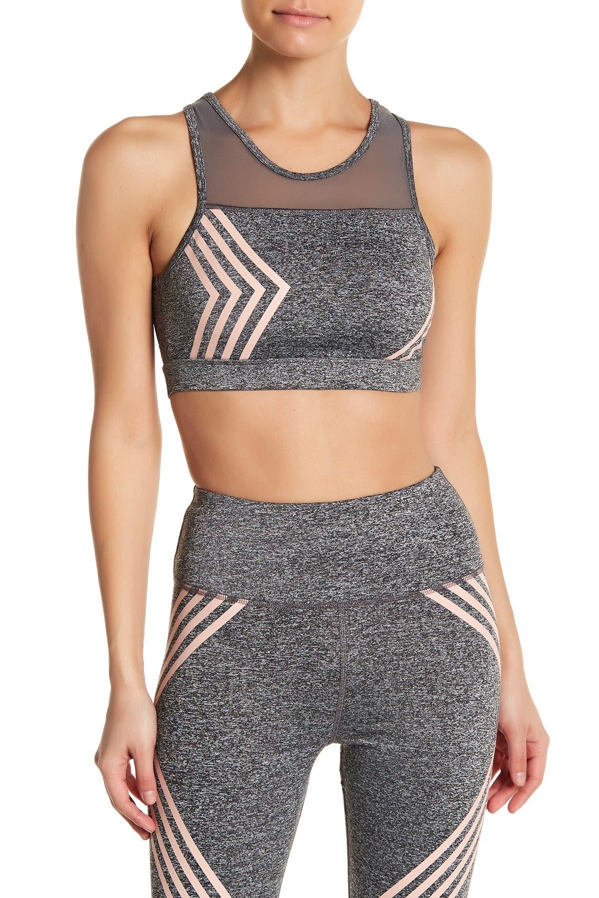 Image of C & C California Stripe Mesh Sports Bra