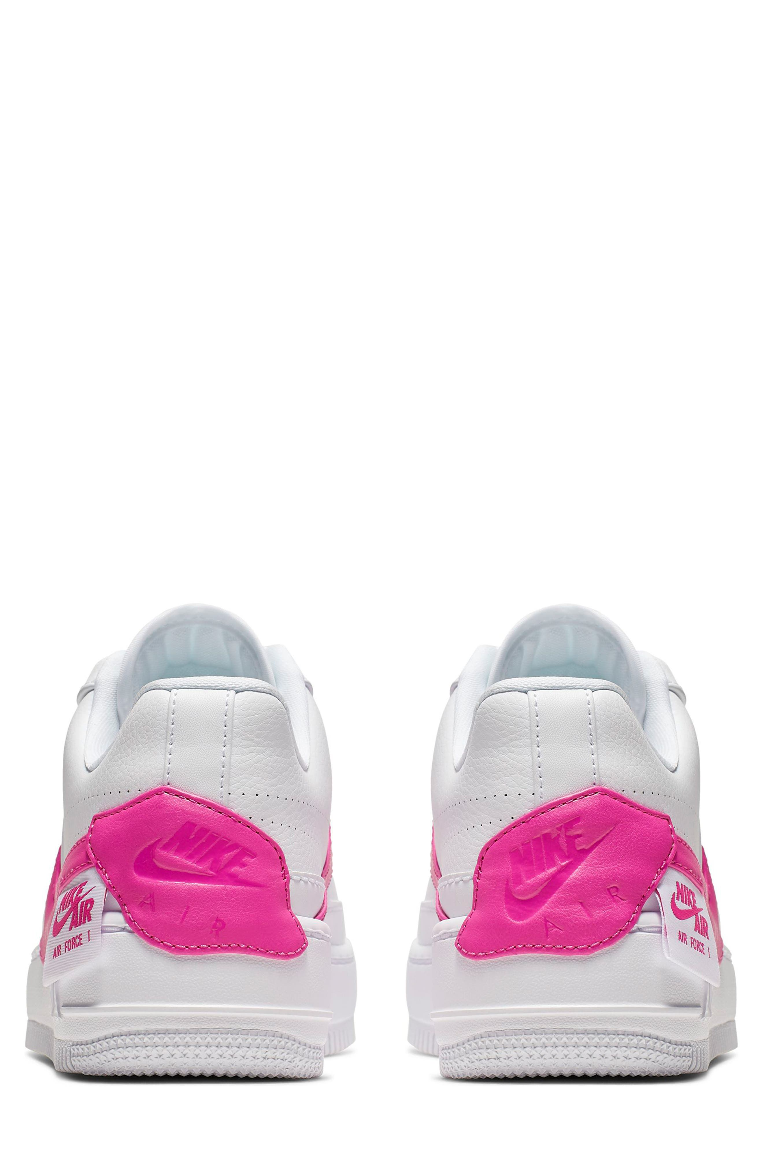 ,                             Air Force 1 Jester XX Sneaker,                             Alternate thumbnail 2, color,                             WHITE/ LASER FUCHSIA