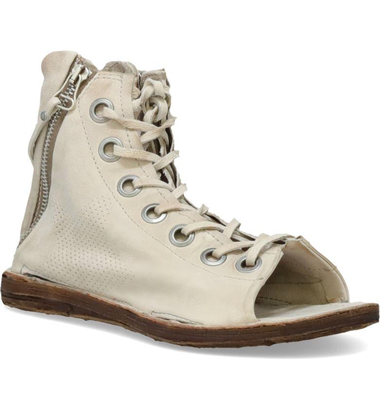 A.S.98 Rhett Lace-Up Sandal, Main, color, BONE