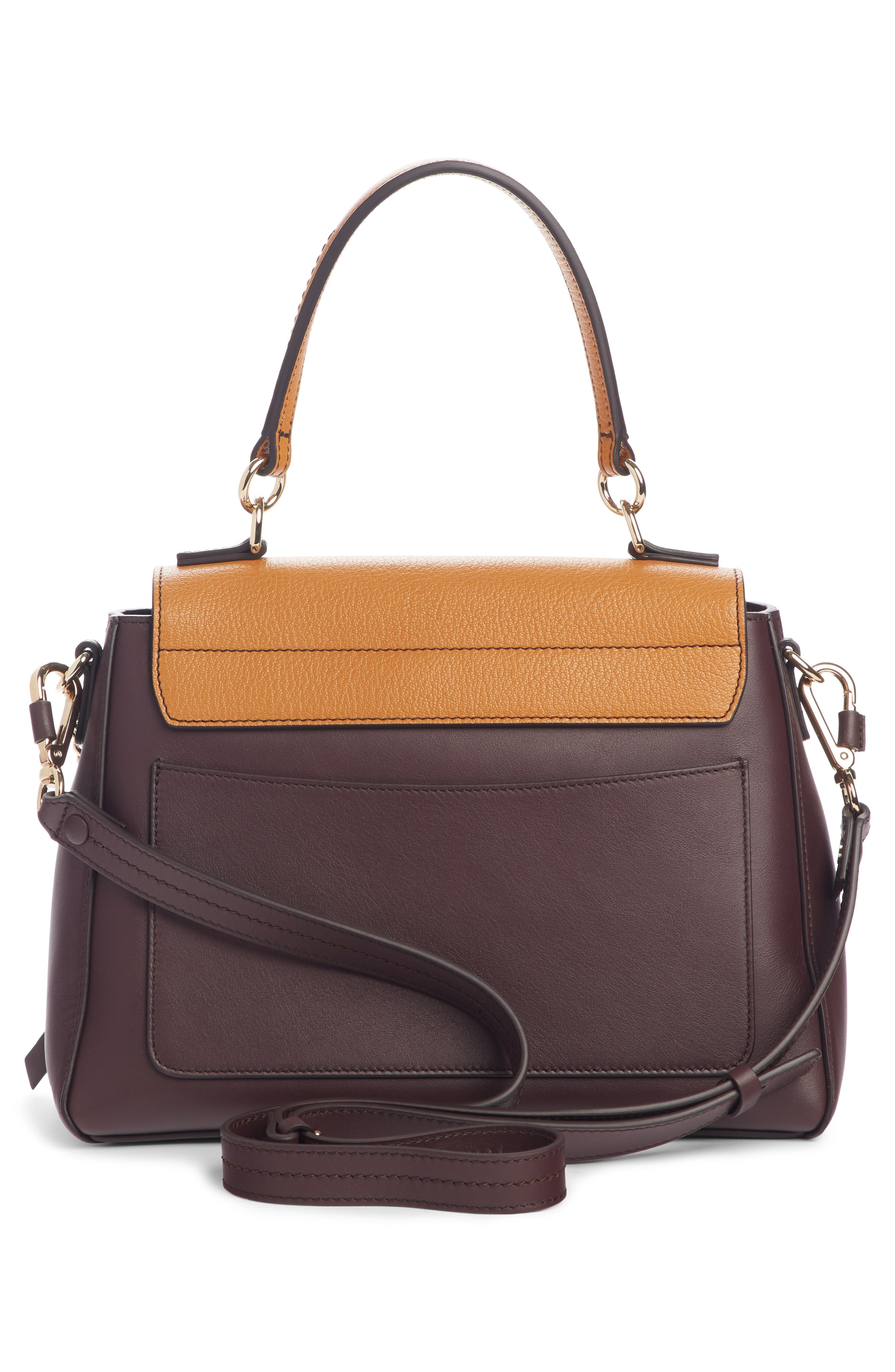 ,                             Small Faye Day Leather Shoulder Bag,                             Alternate thumbnail 3, color,                             PURPLE/ BROWN