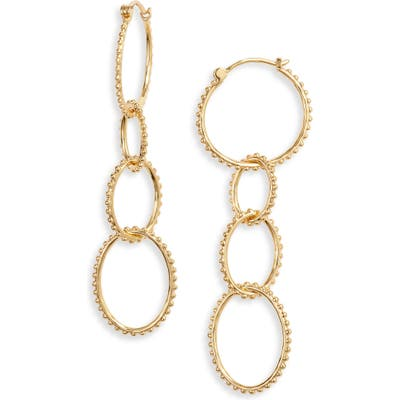 Gorjana Bali Parker Hoop Drop Earrings