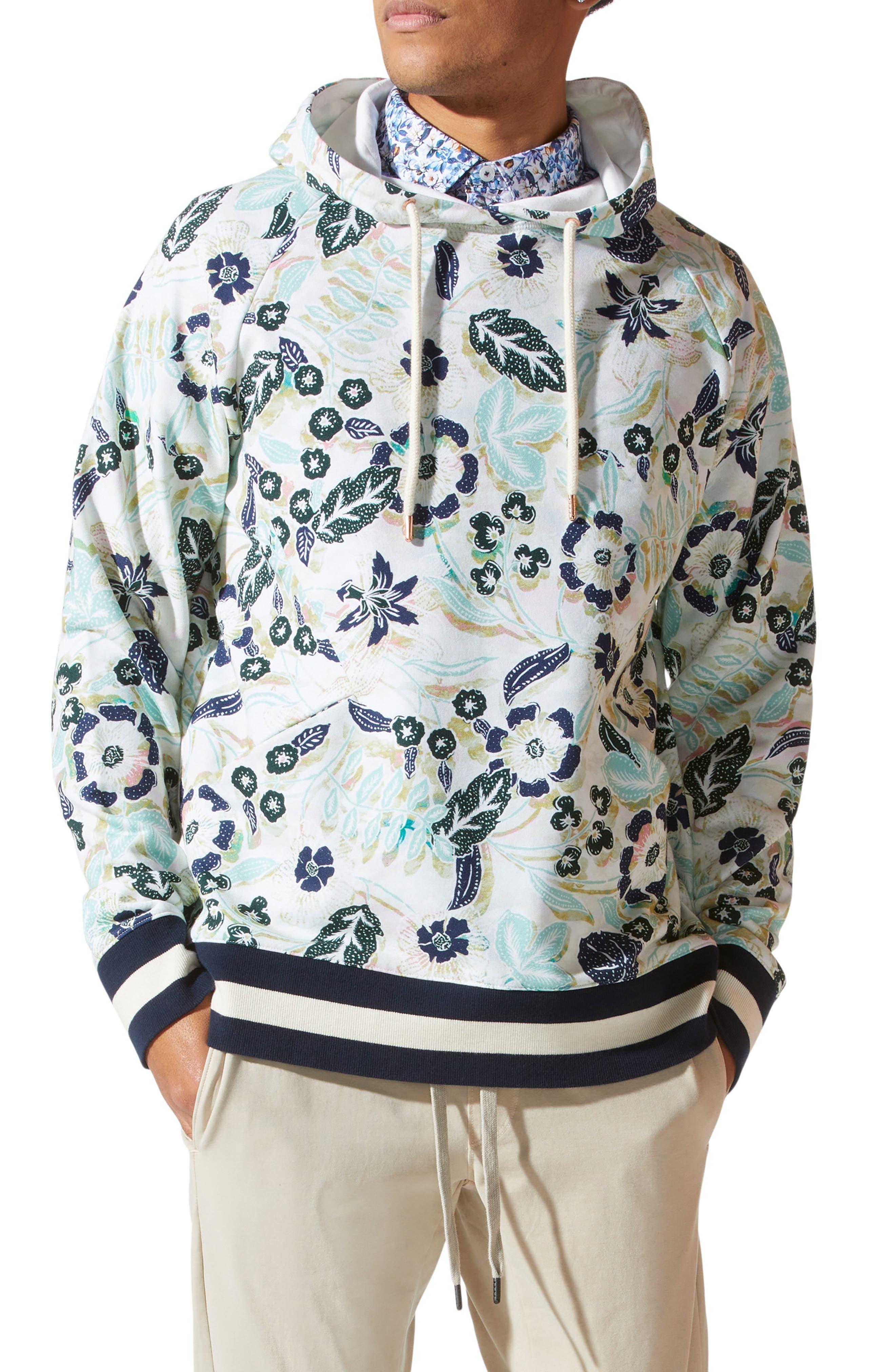 Patterned Pullover Hoodie