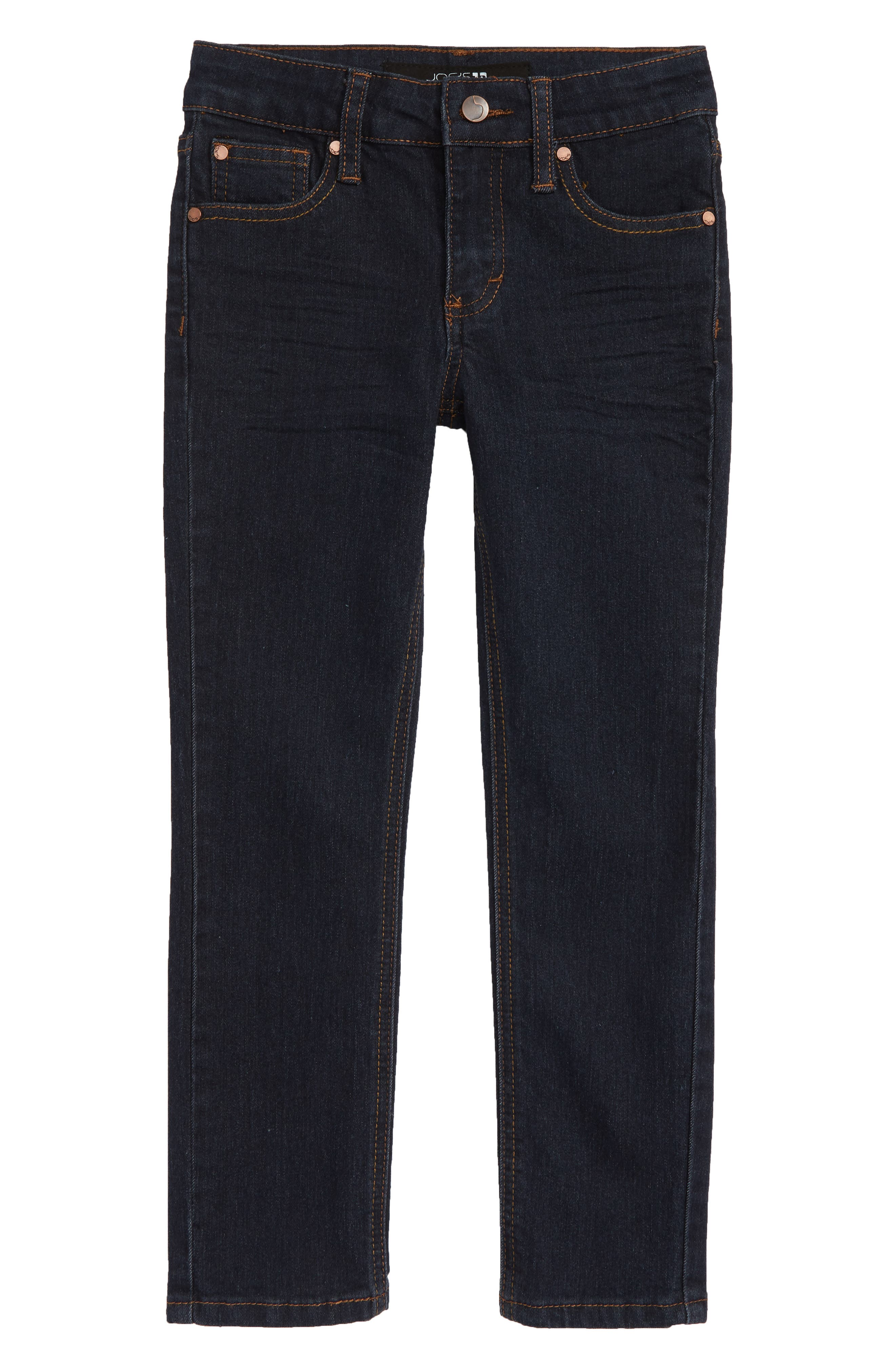 Whiskering from the thighs to the knees furthers the easy, old-favorite attitude of wardrobe-staple jeans cut for comfort from stretch denim. Style Name: Joe\\\'s Kids\\\' Brixton Stretch Jeans (Toddler, Little Boy & Big Boy). Style Number: 5608089. Available in stores.