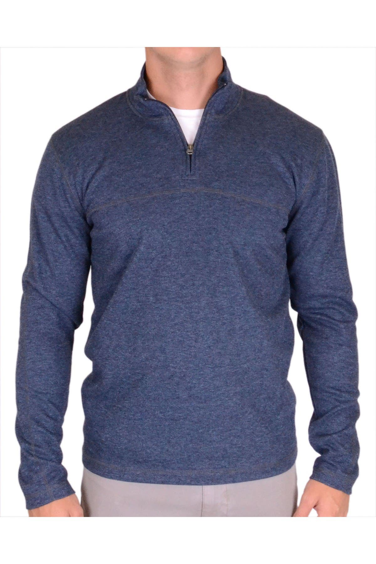 Image of Vintage 1946 Heathered Rib Quarter Zip Thermal