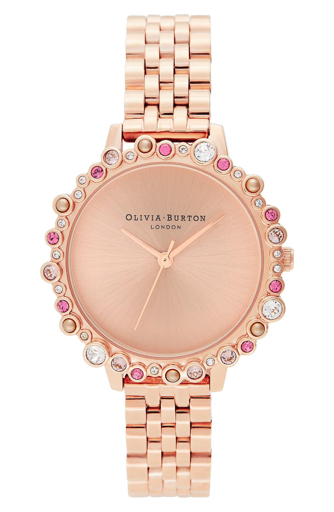 Image of OLIVIA BURTON Women's Limited Edition Swarovski Crystal Bracelet Watch, 30mm