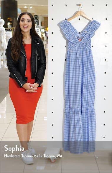 Ruffle Trim Stripe Maxi Dress, sales video thumbnail