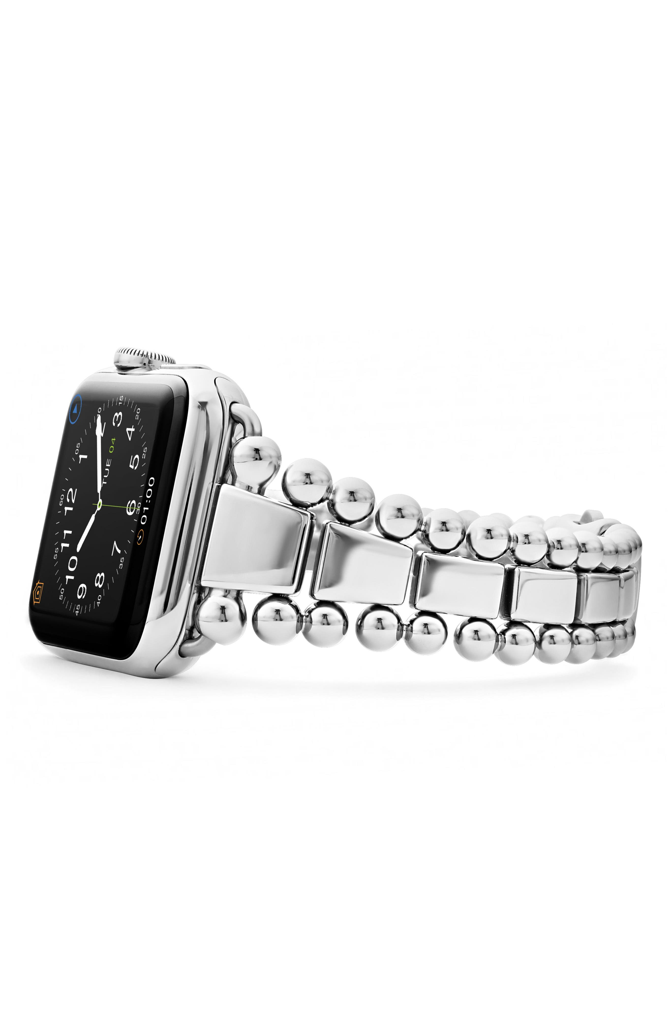 stainless steel lagos apple band watch