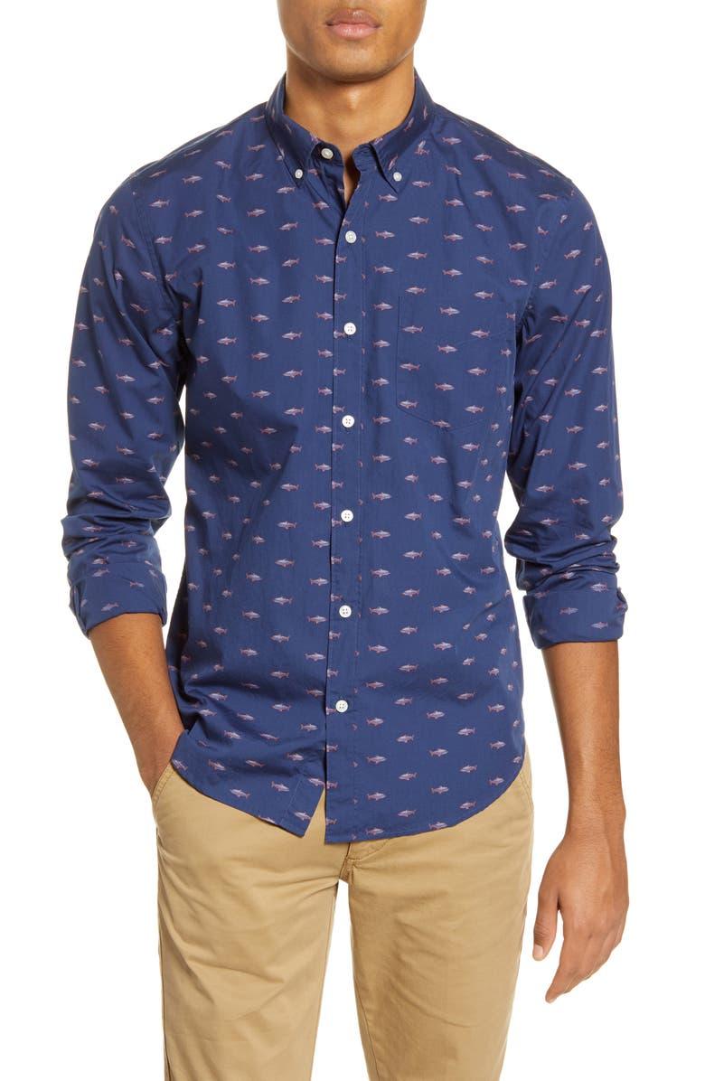 BONOBOS Slim Fit Button-Down Shirt, Main, color, 400