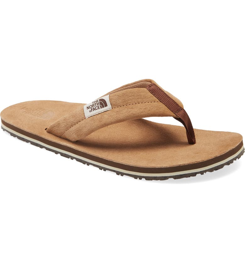 THE NORTH FACE Base Camp Leather Flip Flop, Main, color, 210
