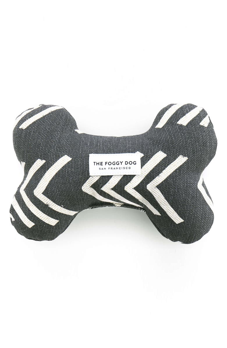 THE FOGGY DOG Modern Mud Cloth Squeaky Dog Toy, Main, color, 001