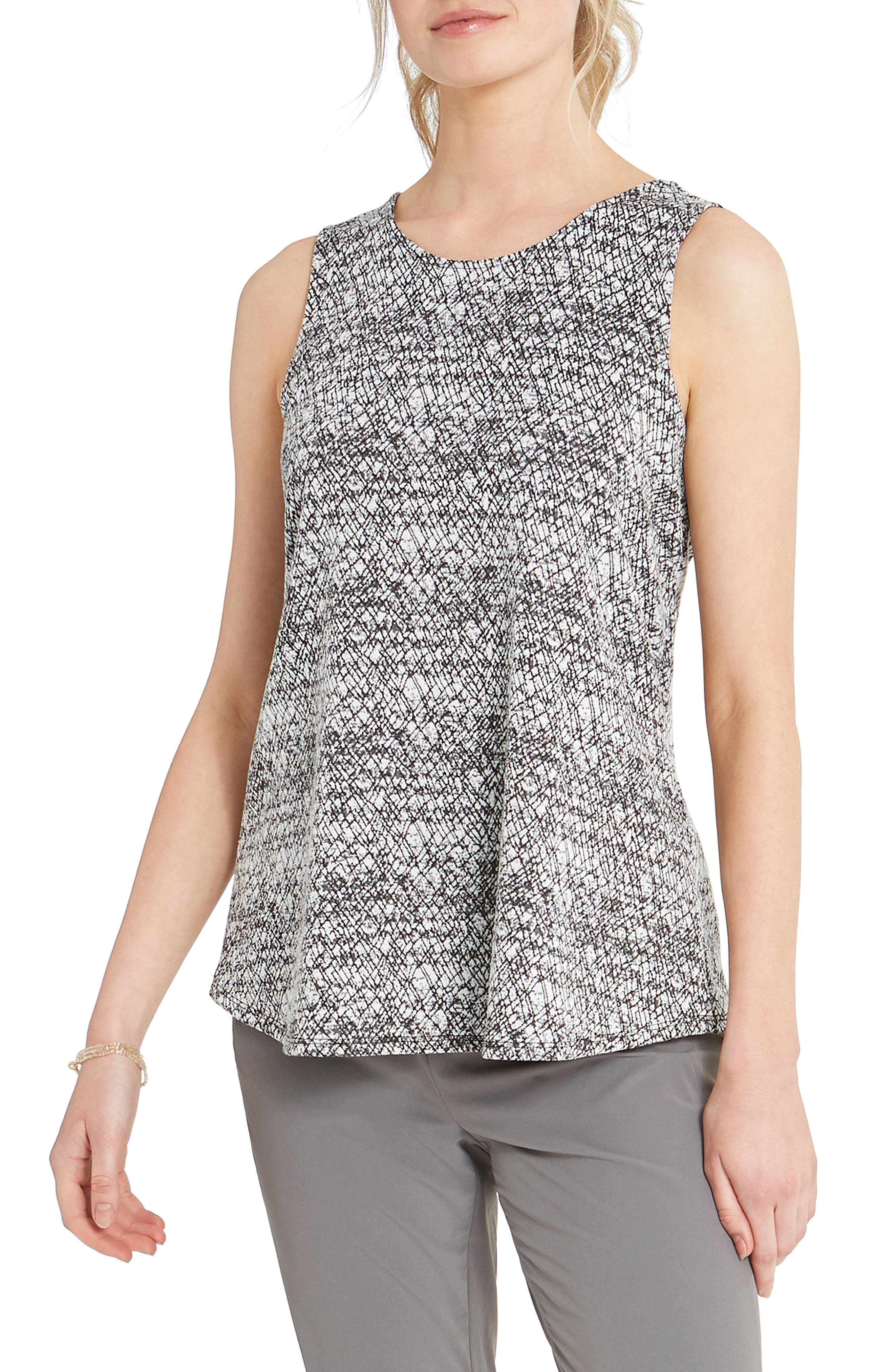 Graffiti-inspired patterning makes for an eye-catching top that\\\'s also easily paired as a neutral underpinning or wear-alone piece. Style Name: Nic+Zoe Cityside Tank. Style Number: 6098638. Available in stores.