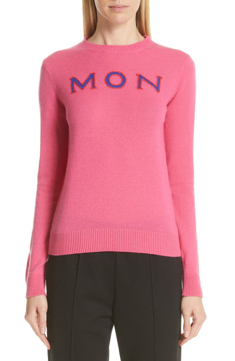 MONCLER Logo Crewneck Cashmere Sweater, Main, color, 679