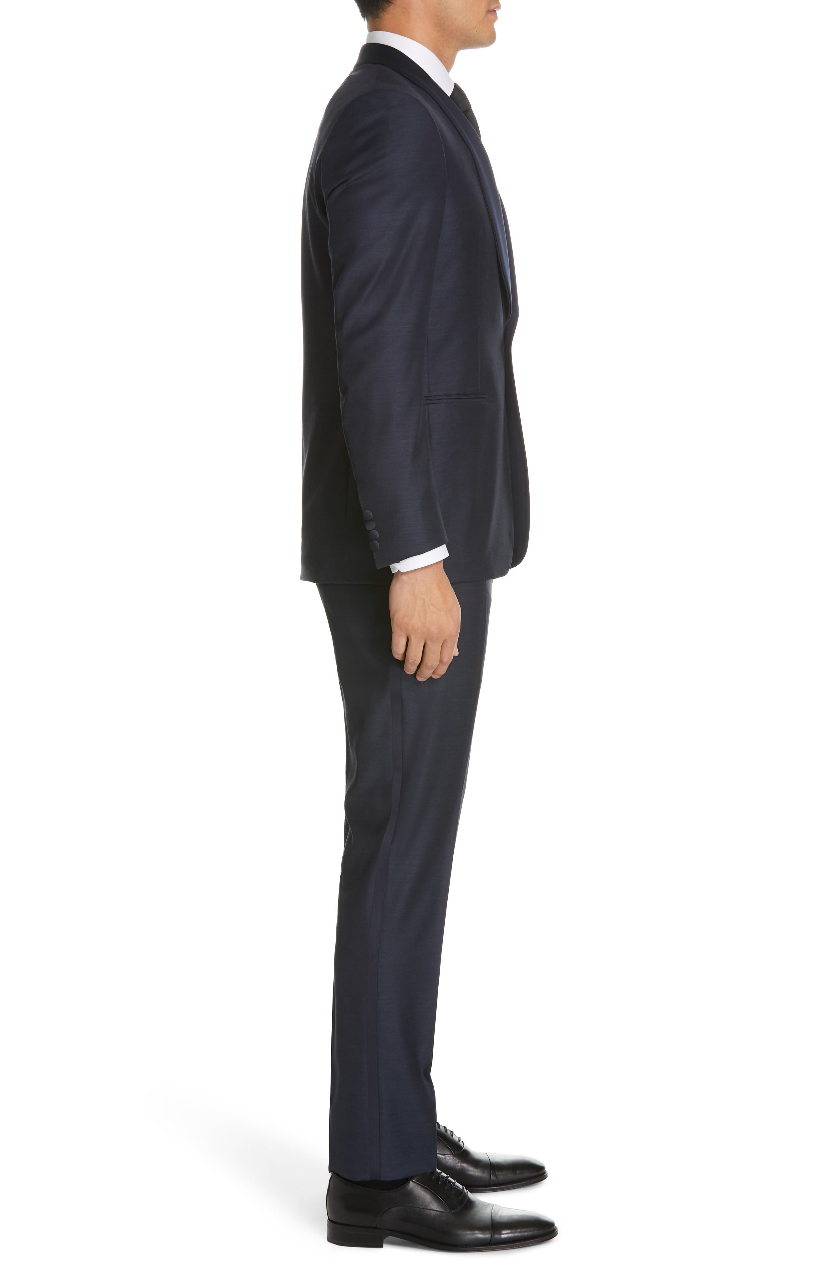 ,                             Venieza Classic Fit Wool Tuxedo,                             Alternate thumbnail 3, color,                             NAVY