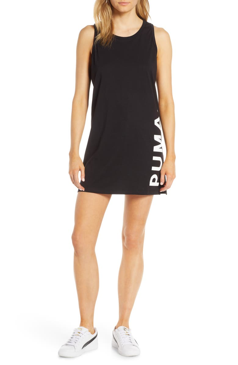 PUMA Chase Tank Dress, Main, color, 001