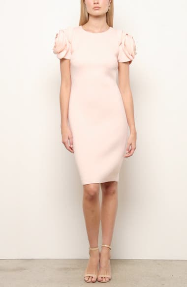 Badgley Mischka Rose Sleeve Cocktail Dress, video thumbnail
