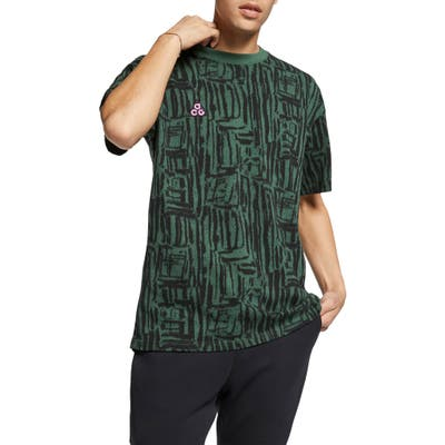 Nike Nrg All Conditions Gear Print Logo T-Shirt, Green
