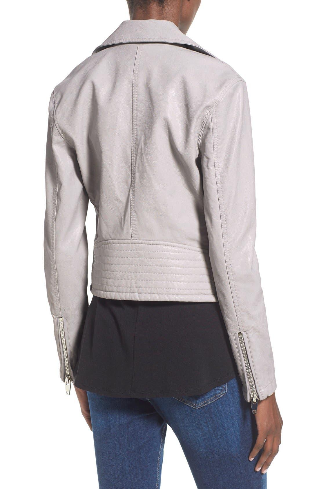 ,                             Faux Leather Moto Jacket,                             Alternate thumbnail 9, color,                             020