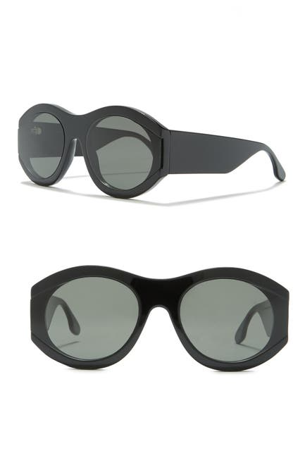 Image of Victoria Beckham 61mm Round Sunglasses