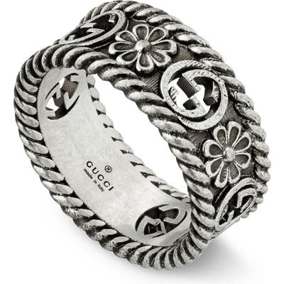 Gucci Small Interlocking-G Floral Ring