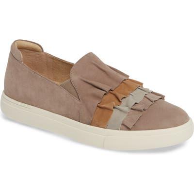 Vaneli Only Ruffle Slip-On Sneaker- Beige