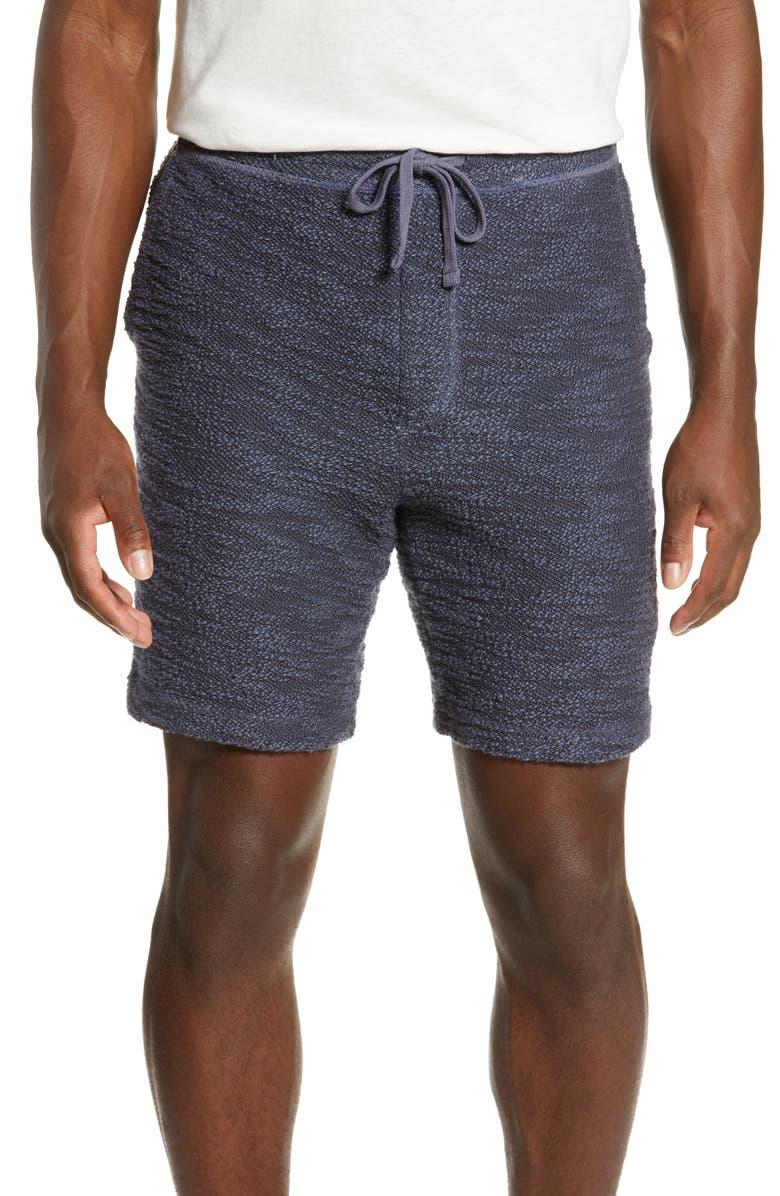 MILLS SUPPLY BY SPLENDID Huntington Textured Knit Shorts, Main, color, MOOD INDIGO