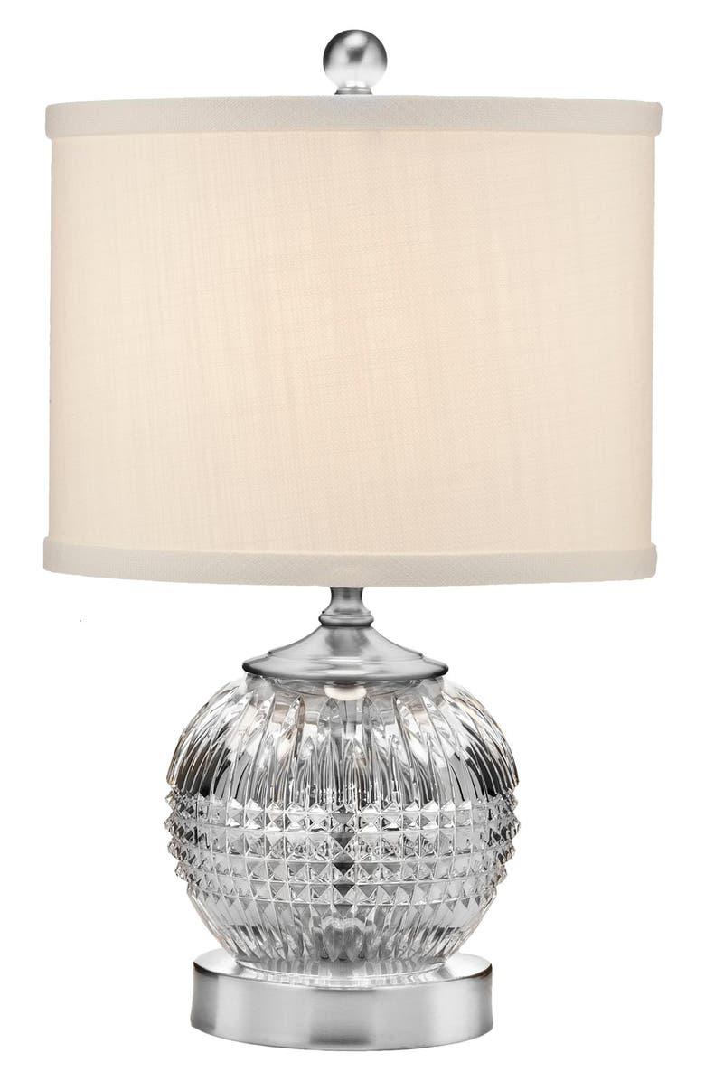 WATERFORD Lismore Diamond Mini Lead Crystal & Chrome Table Lamp, Main, color, 100