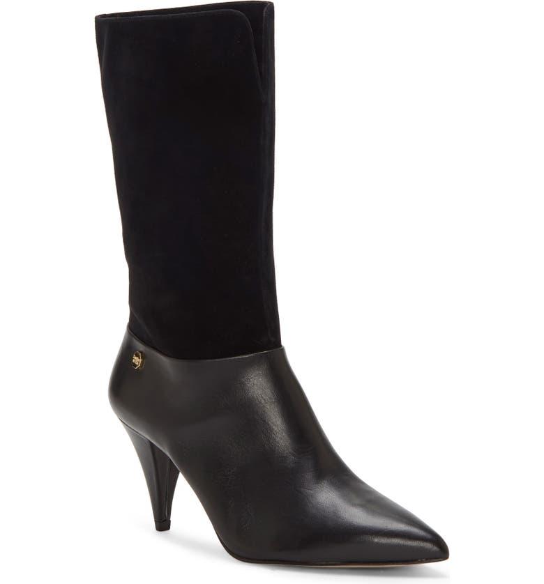 LOUISE ET CIE Winslow Boot, Main, color, BLACK LEATHER