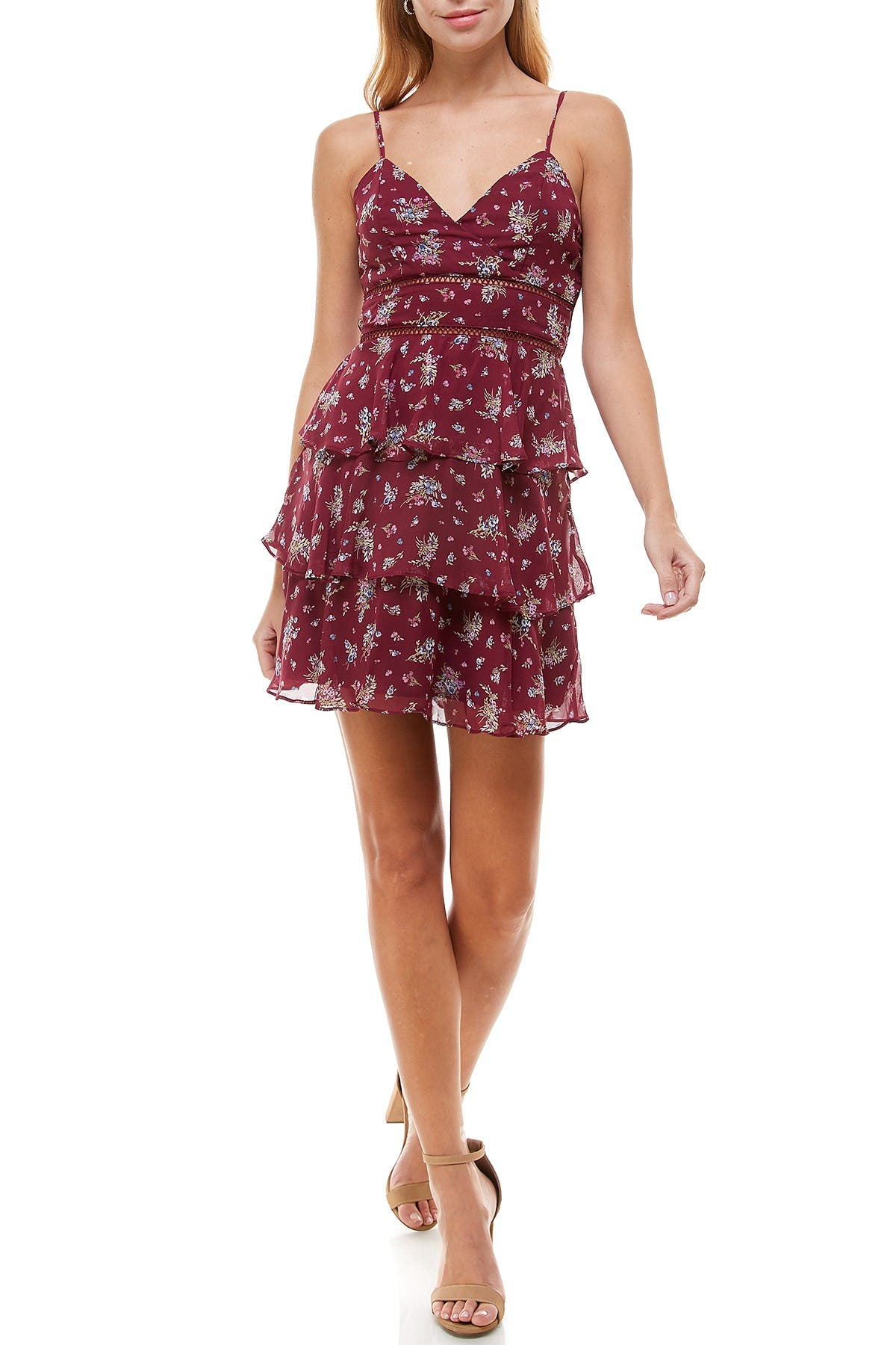 Image of ROW A Ladder Trim Tiered Dress