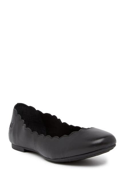 Image of Born Allie Scalloped Leather Flat
