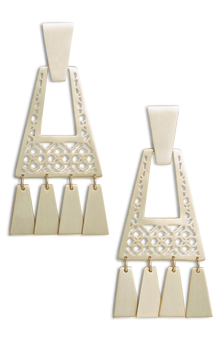 KENDRA SCOTT Kase Small Drop Earrings, Main, color, GOLD