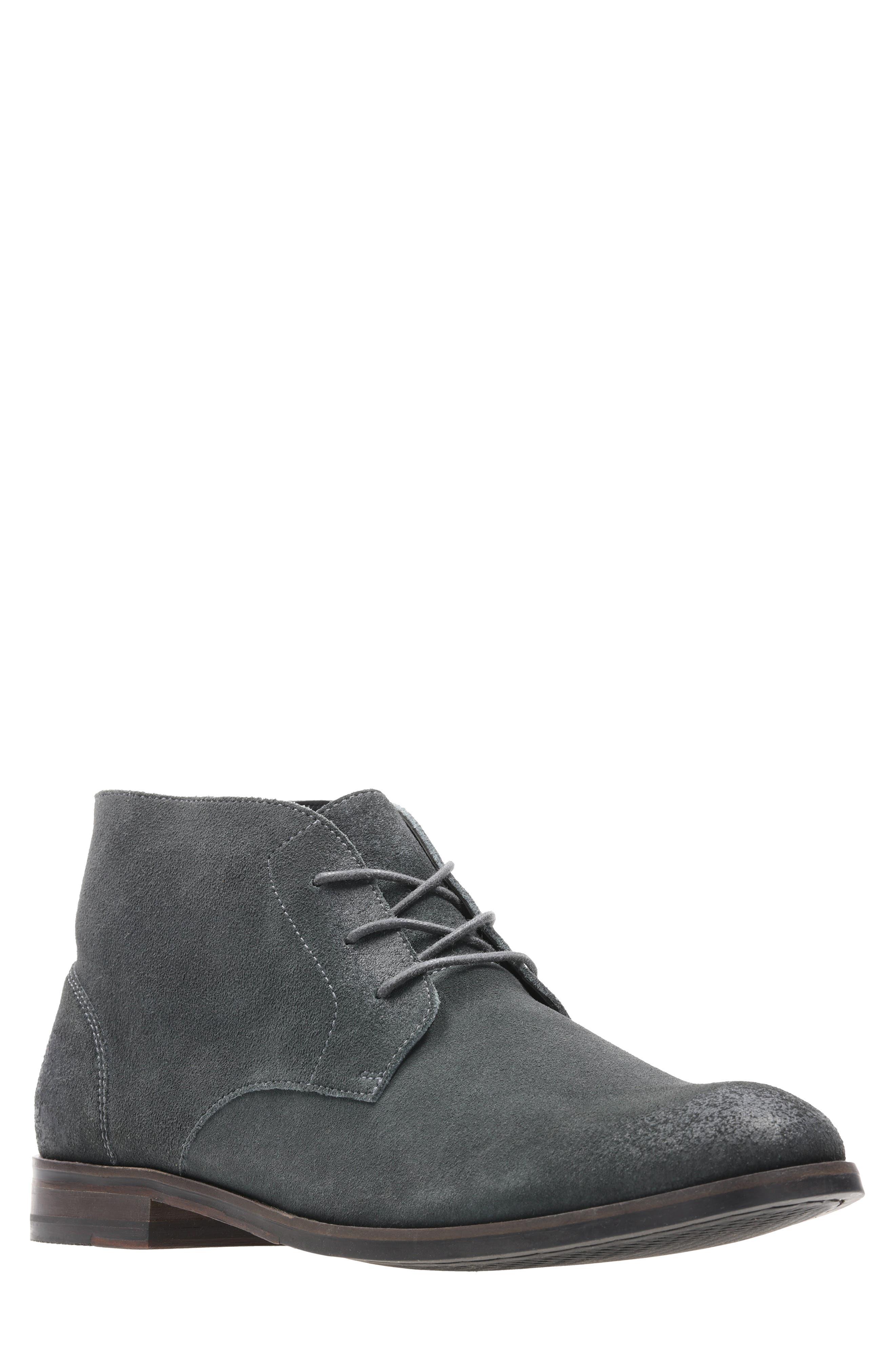 Flow Top Chukka Boot, Main, color, DARK GREY SUEDE
