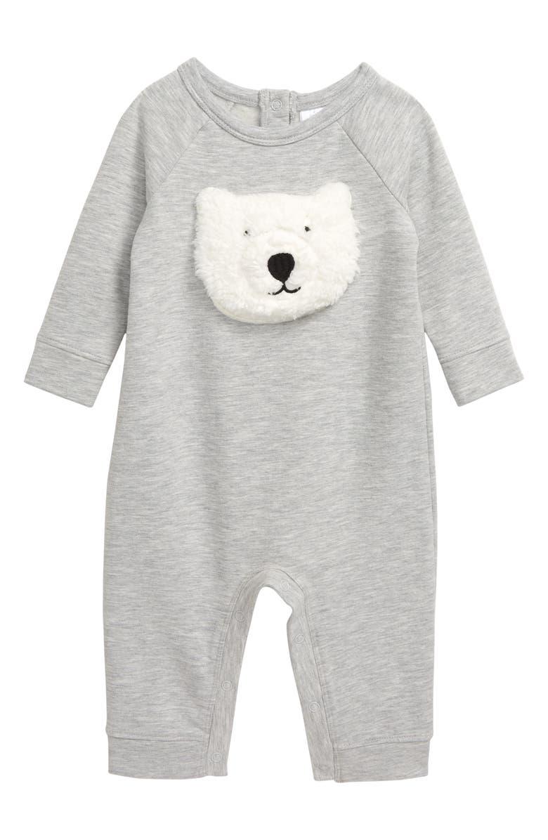 NORDSTROM Baby Cozy Bear Romper, Main, color, 050