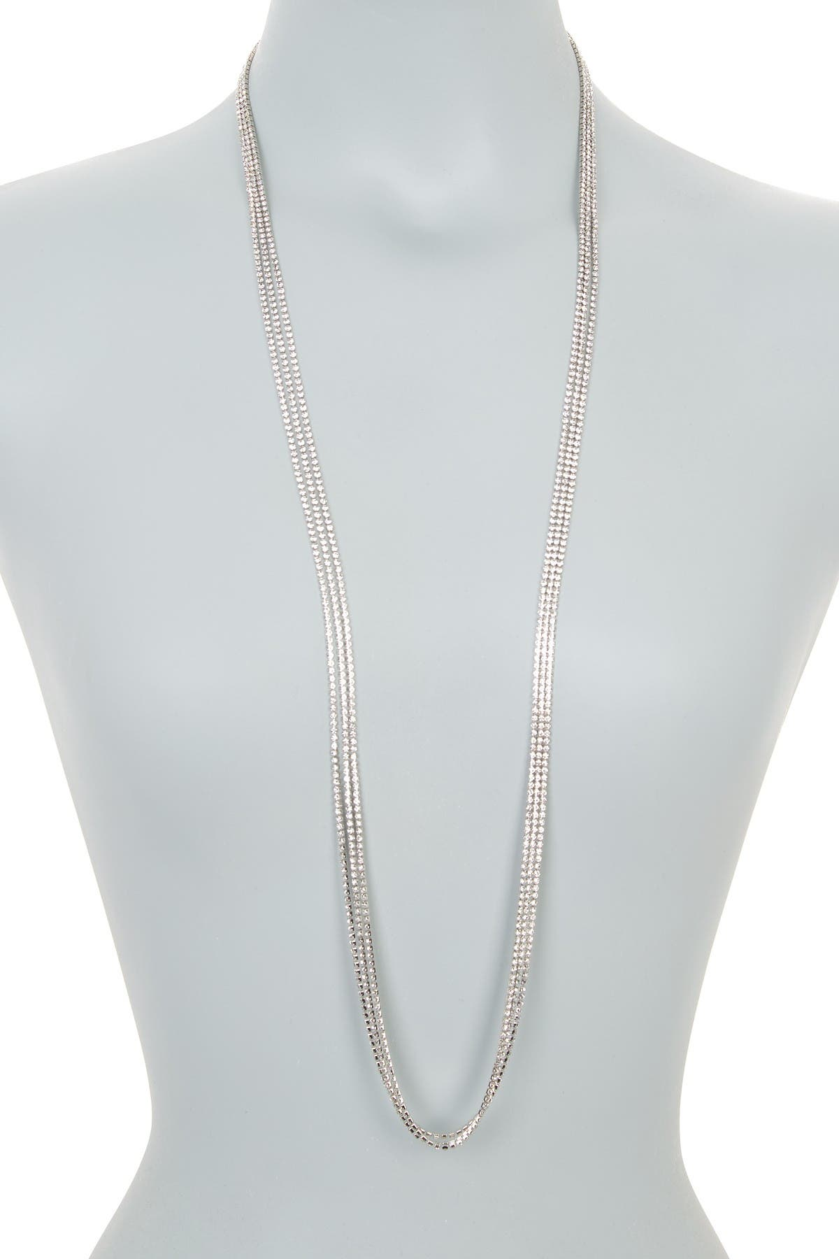 Image of CRISTABELLE Rhinstone 3-Strand Long Necklace