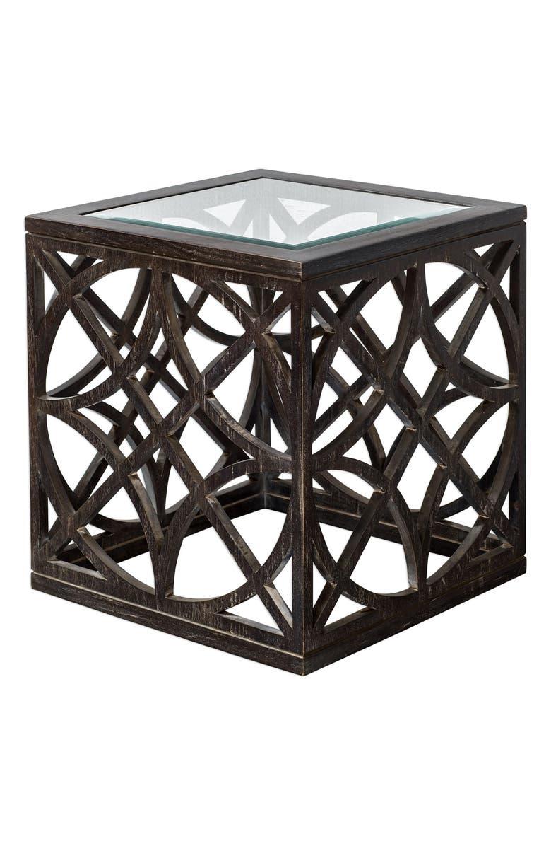 UTTERMOST Janeva Accent Table, Main, color, BLACK