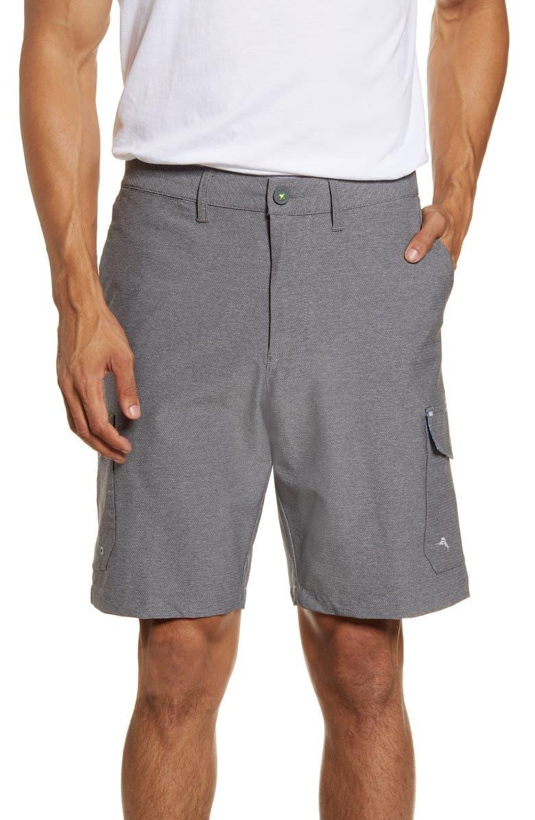 TOMMY BAHAMA Cayman Bay Board Shorts, Main, color, FOG GREY