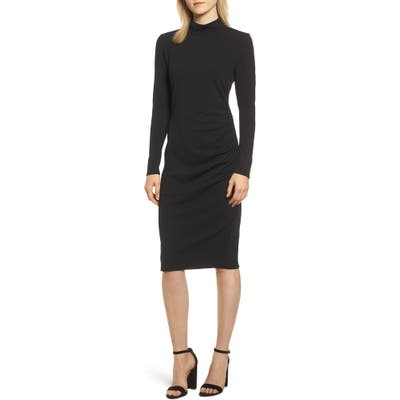 Chelsea28 Mock Neck Body-Con Dress, Black