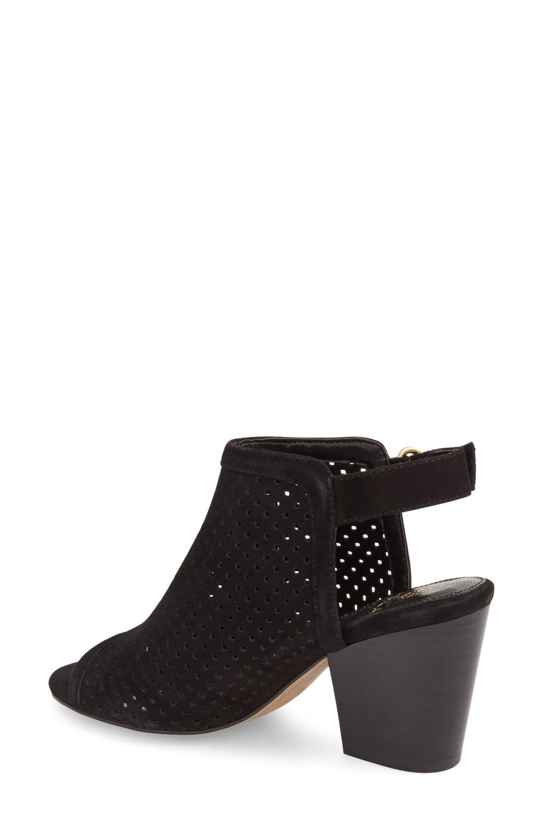 ,                             'Lora' Perforated Open-Toe Bootie Sandal,                             Alternate thumbnail 7, color,                             001