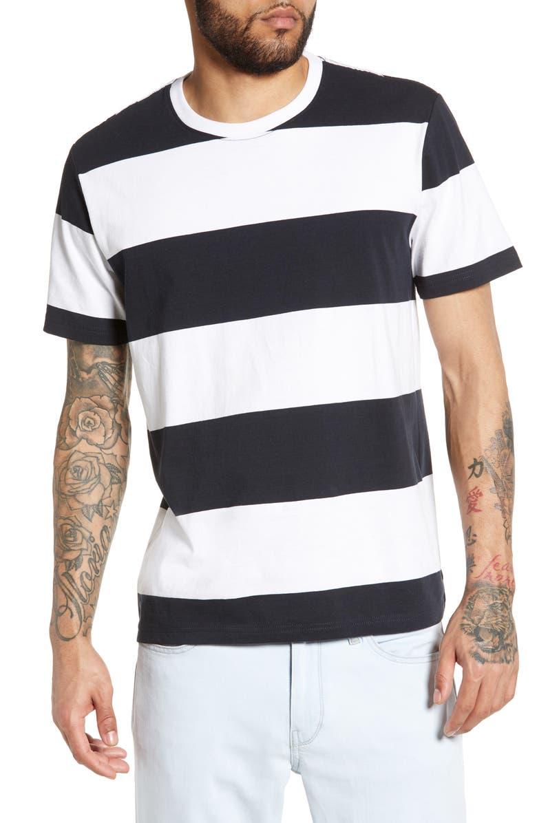 THE RAIL Bold Stripe T-Shirt, Main, color, 001