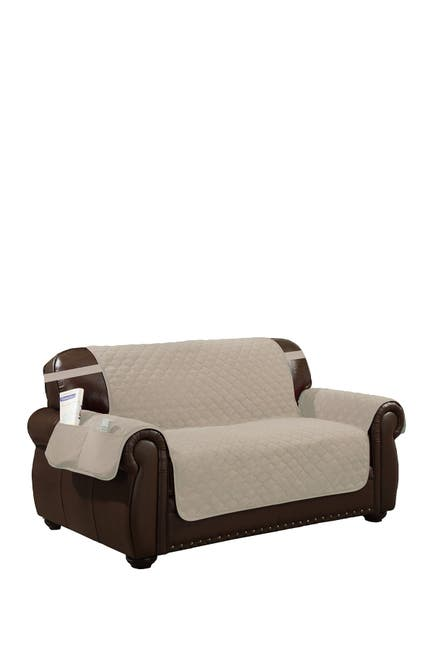 Image of Duck River Textile Chocolate/Natural Jameson Reversible Waterproof Microfiber Chair Cover