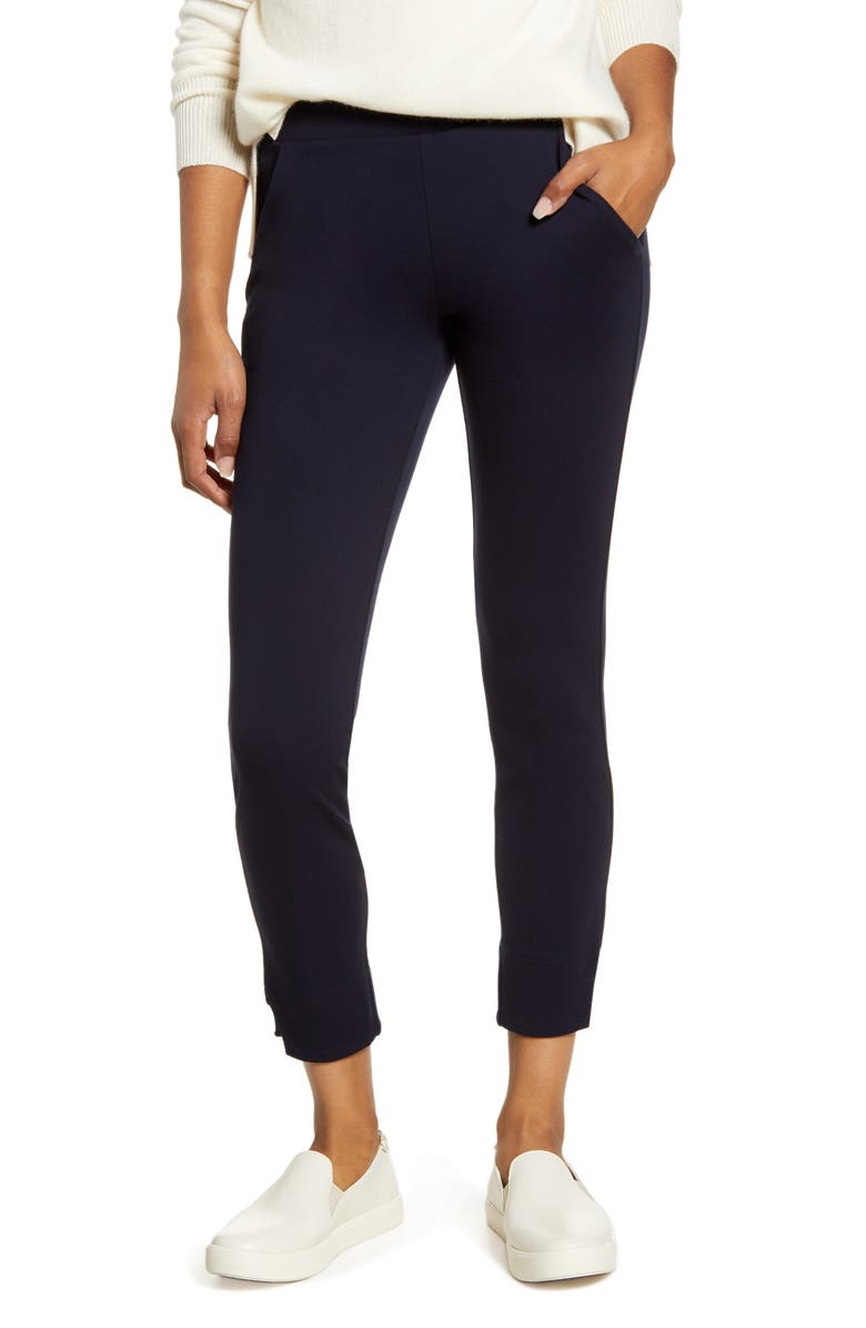 HUE 7/8 Ponte Leggings, Main, color, NAVY