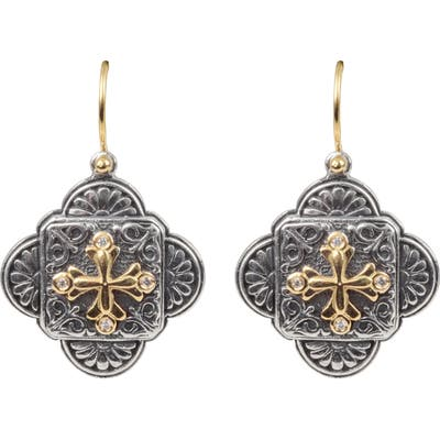Konstantino Diamond Clover Drop Earrings