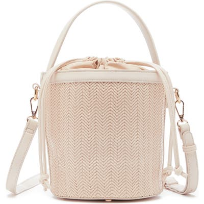 Sole Society Nikole Faux Leather Bucket Bag - White