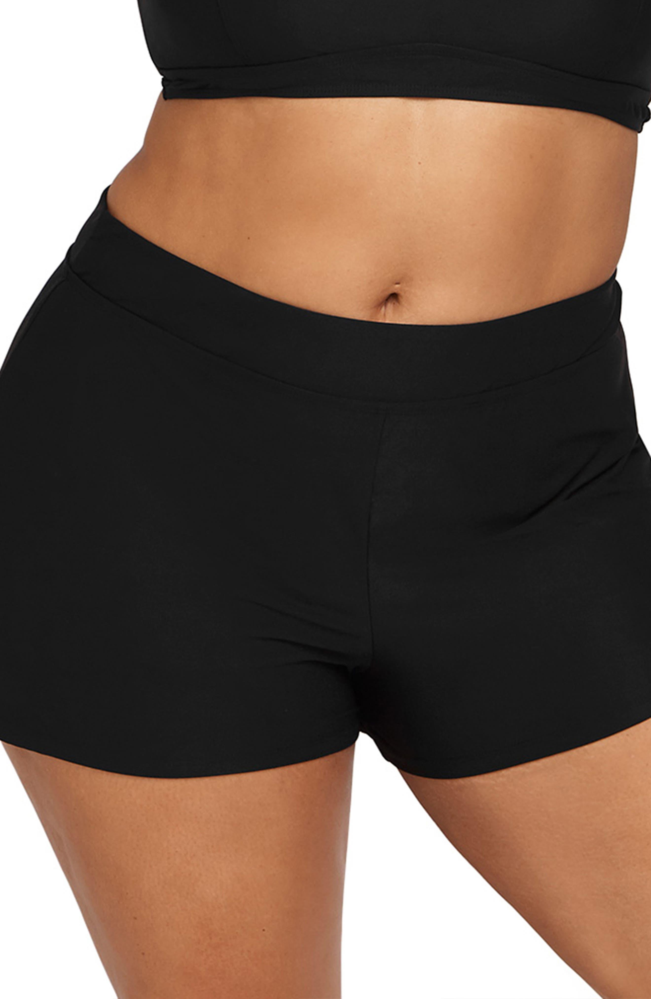 High Waist Swim Shorts