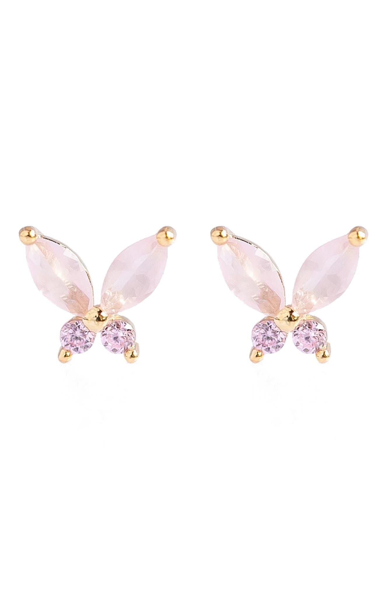 Baby Pink Mari Stud Earrings
