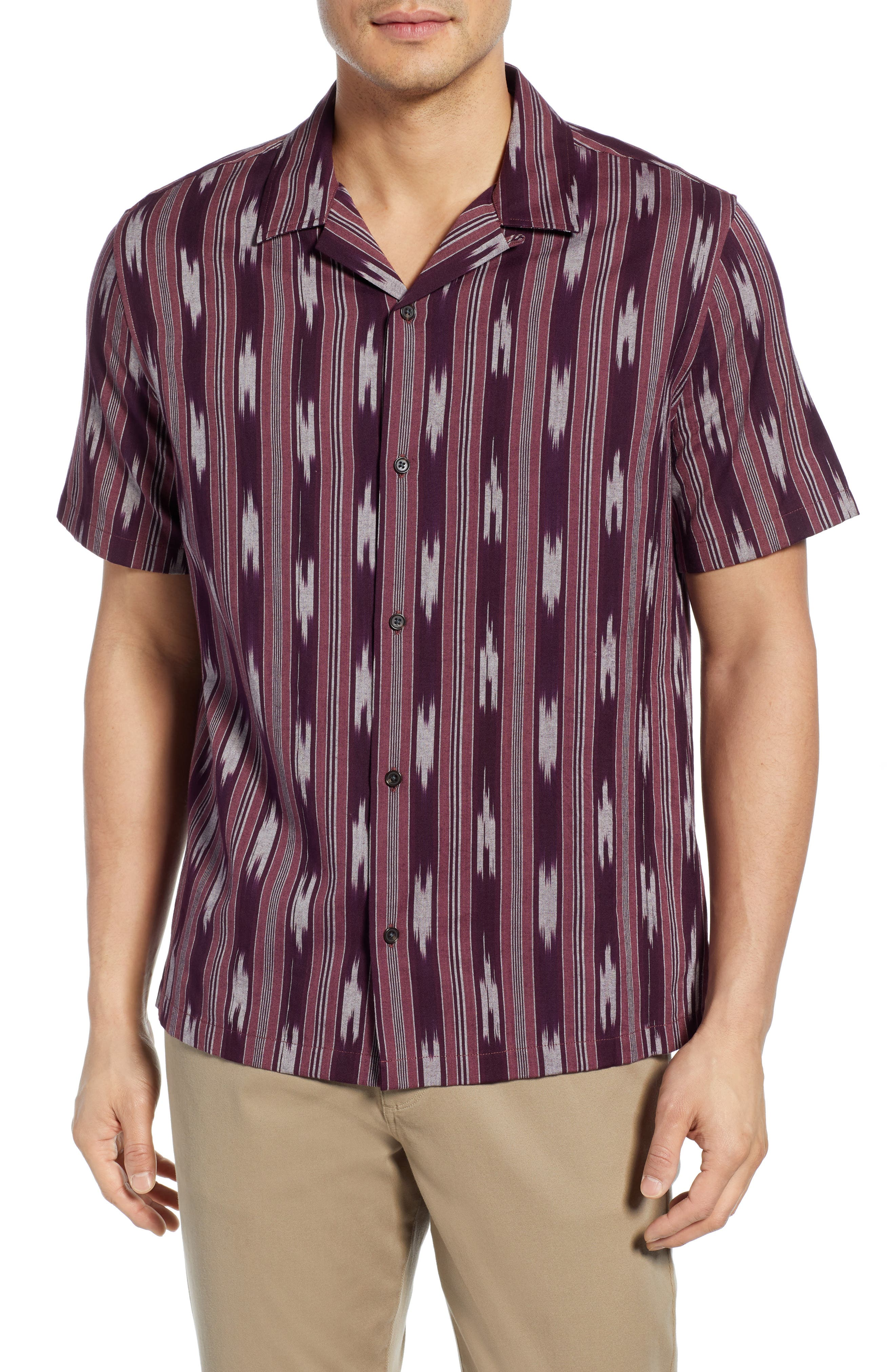 Image of Vince Ikat Cabana Slim Fit Shirt