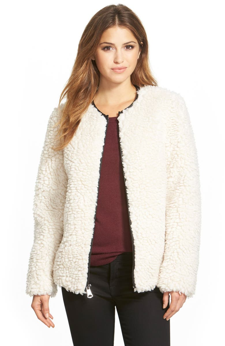 MARC NEW YORK 'Jasmine' Faux Shearling Jacket, Main, color, 119